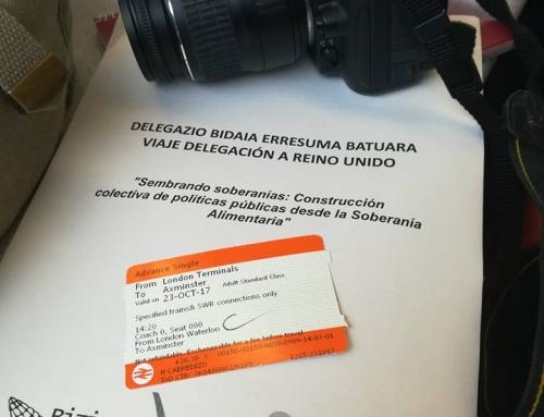 Euskal delegazio bat Erresuma Batuko elikadura burujabetza eta politika publikoak uztartzen dituzten proiektuak ezagutzen